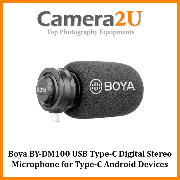 READY STOCK Boya BY-DM100 USB Type-C Digital Stereo Microphone for USB Type-C Android Devices BYDM100