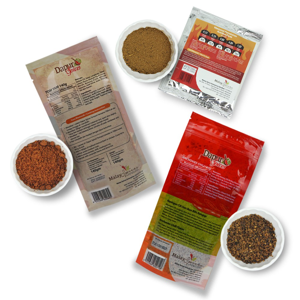 [Pack Of 3]Tom Yam Powder + Ikan Bilis Chili Flakes + Black Pepper Seasoning