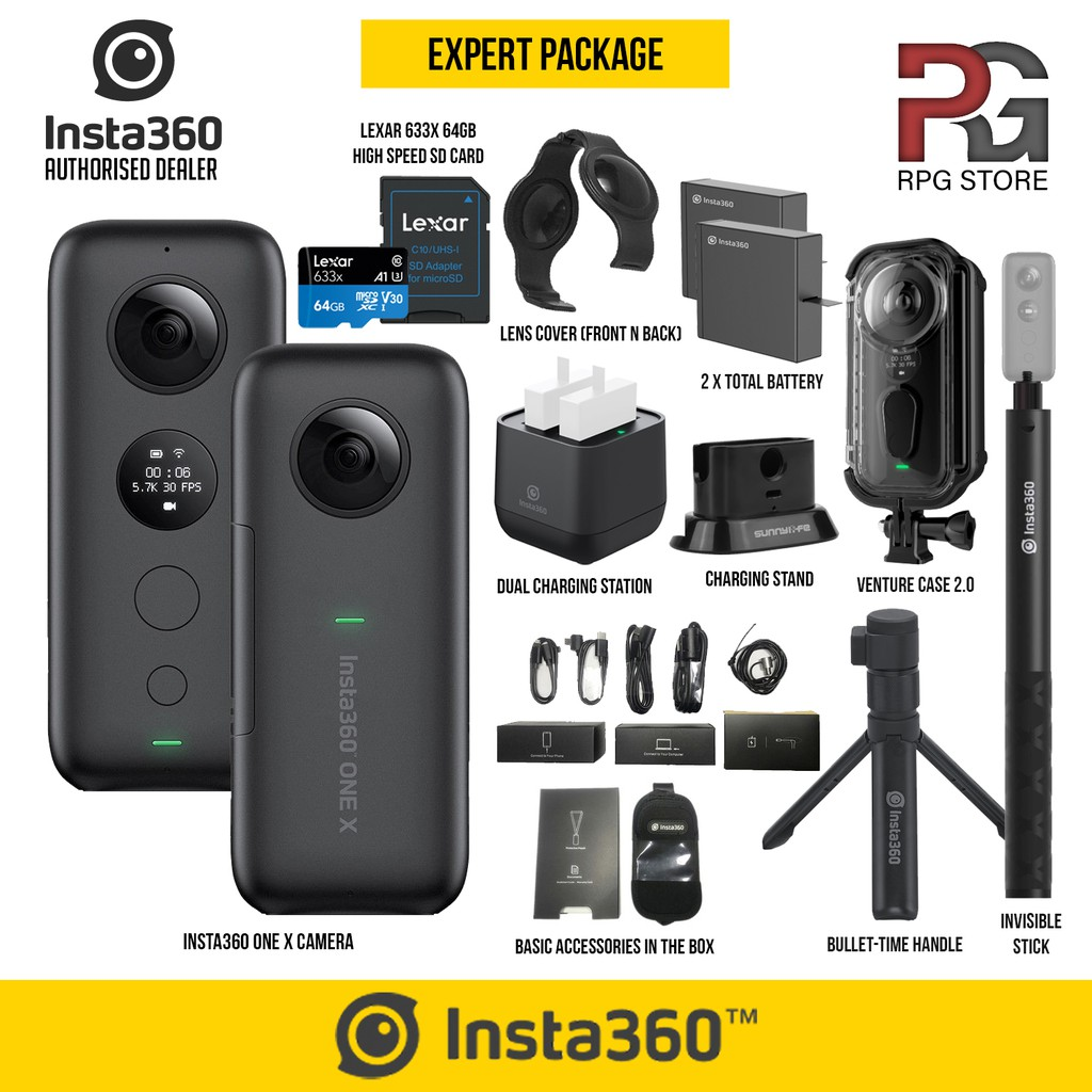 (READY STOCK) - Insta360 ONE X 360° Sports & Action 5 7K Video Camera