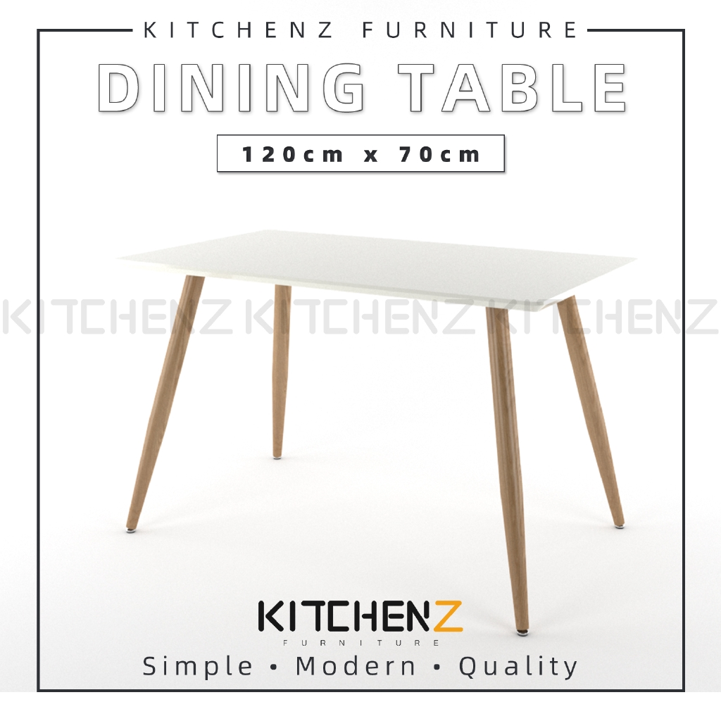 Kitchenz Modern Contemporary Dining Table-HMZ-FN-DT-JT01(12070)-WT
