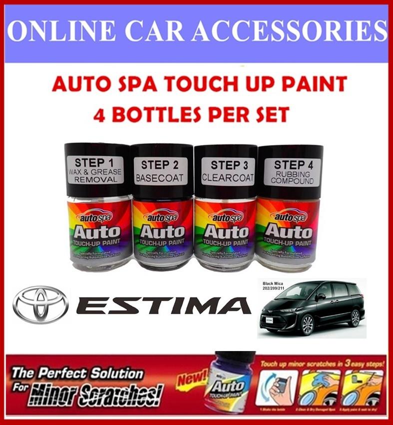 TOYOTA ESTIMA Original Touch Up Paint - AUTOSPA Touch Up Combo Set (4 Bottles Per Set)