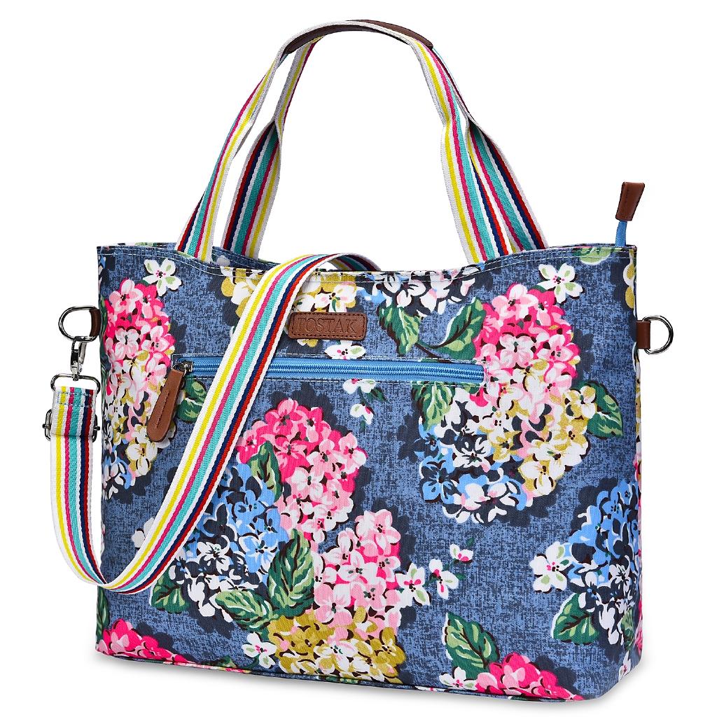 6bebdab0098a Womens Tote Bag 15.6 inch Laptop Shoulder Bag Floral Handbag Work Bags