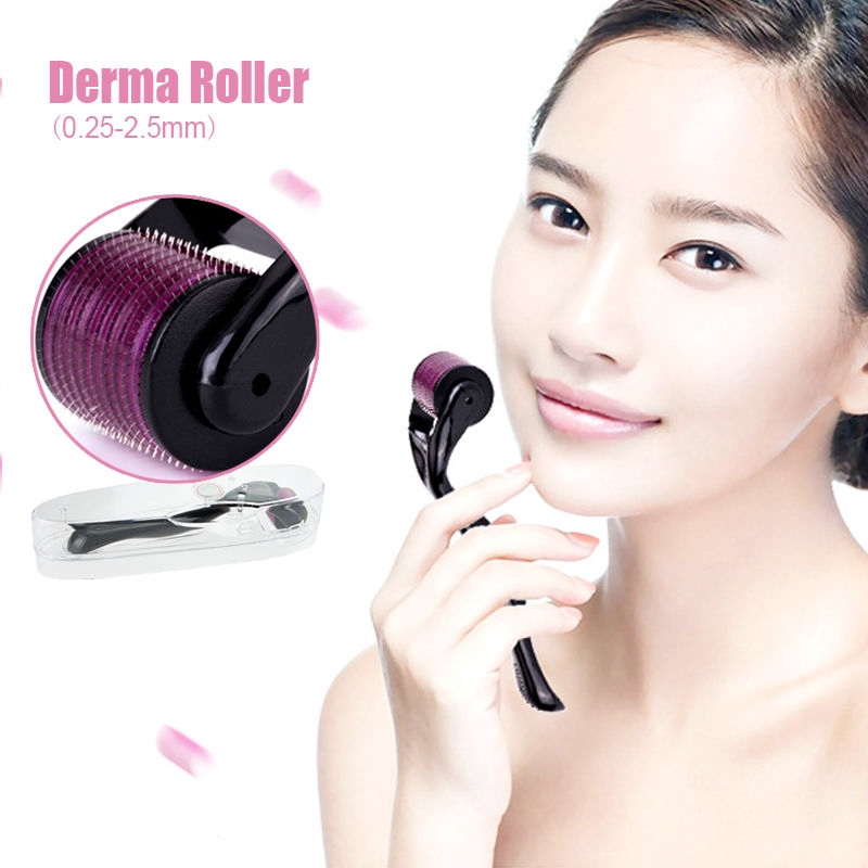 540 Titanium Micro Needle Derma Skin Roller 0.3mm 0.5mm 1mm1.5mm 2.0mm 3.0mm Mm Carefully Selected Materials Anti-aging Products Hair Care & Styling