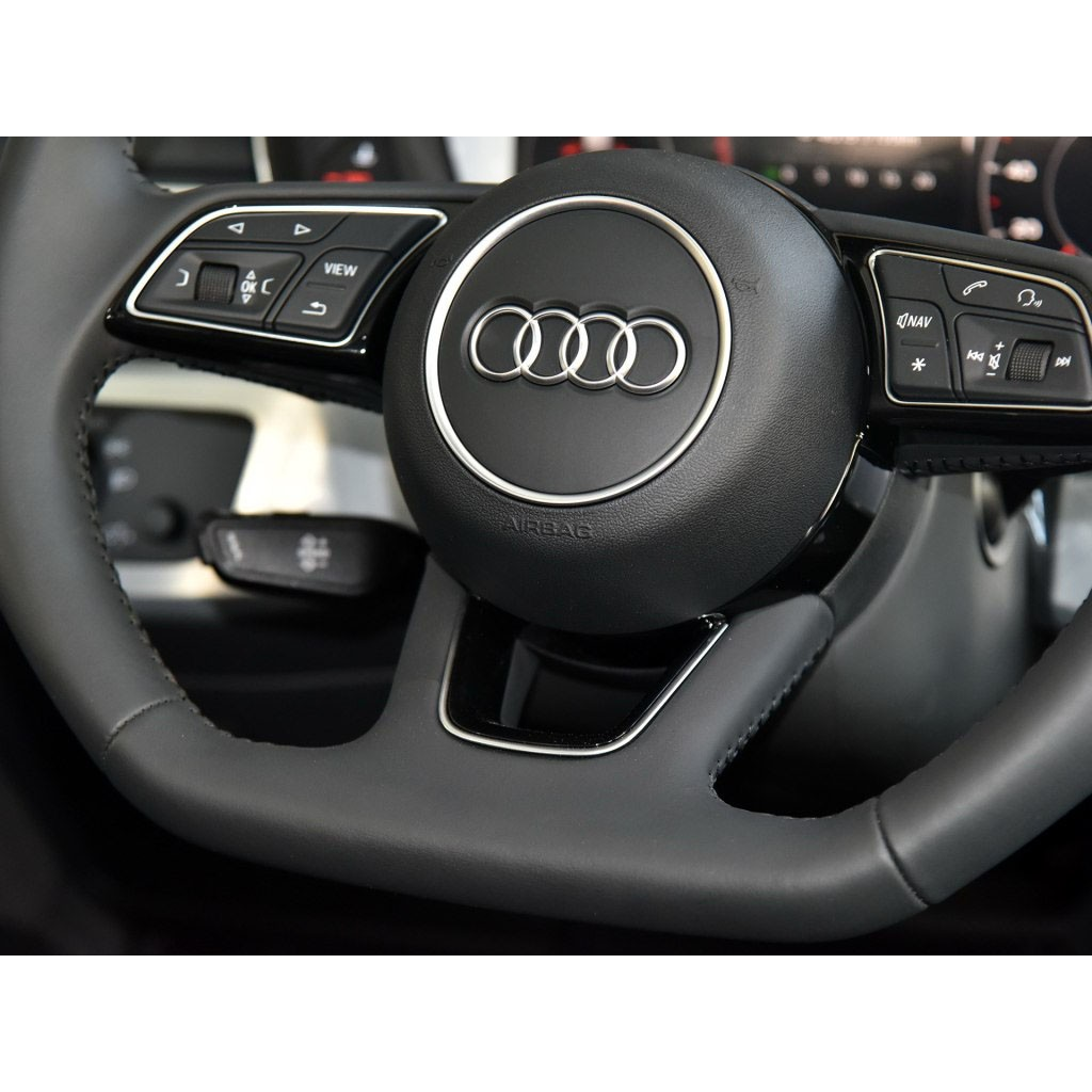 Car Wheel Car Carbon Fiber Steering Wheel Badge Sticker Fit For Audi A4l A6l A3 Q3 Q5 Q7 Vehicle Parts Accessories Dplegal Pe