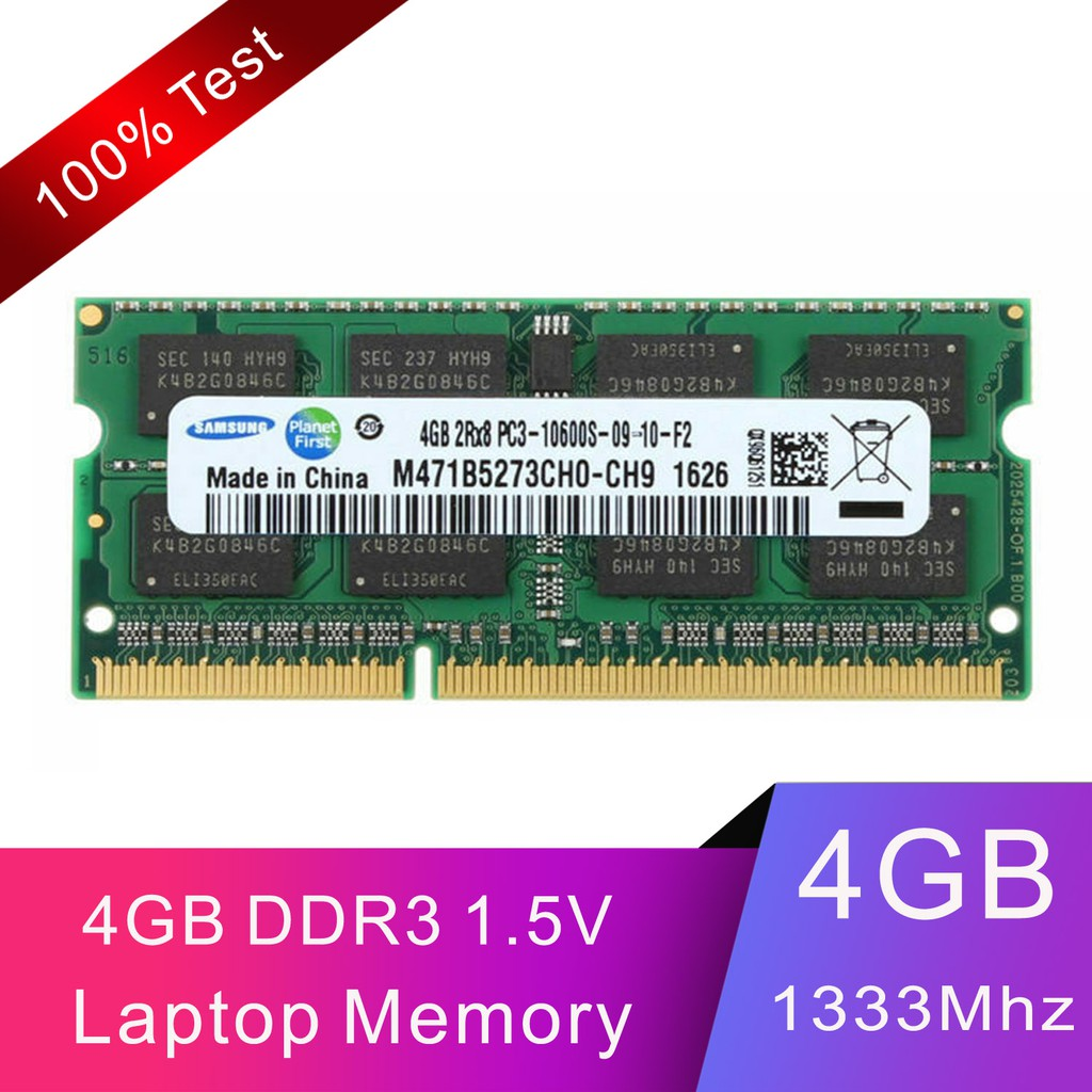 1 Stick Samsung 2GB DDR3 1333MHz PC3-10600 Laptop Memory Tested
