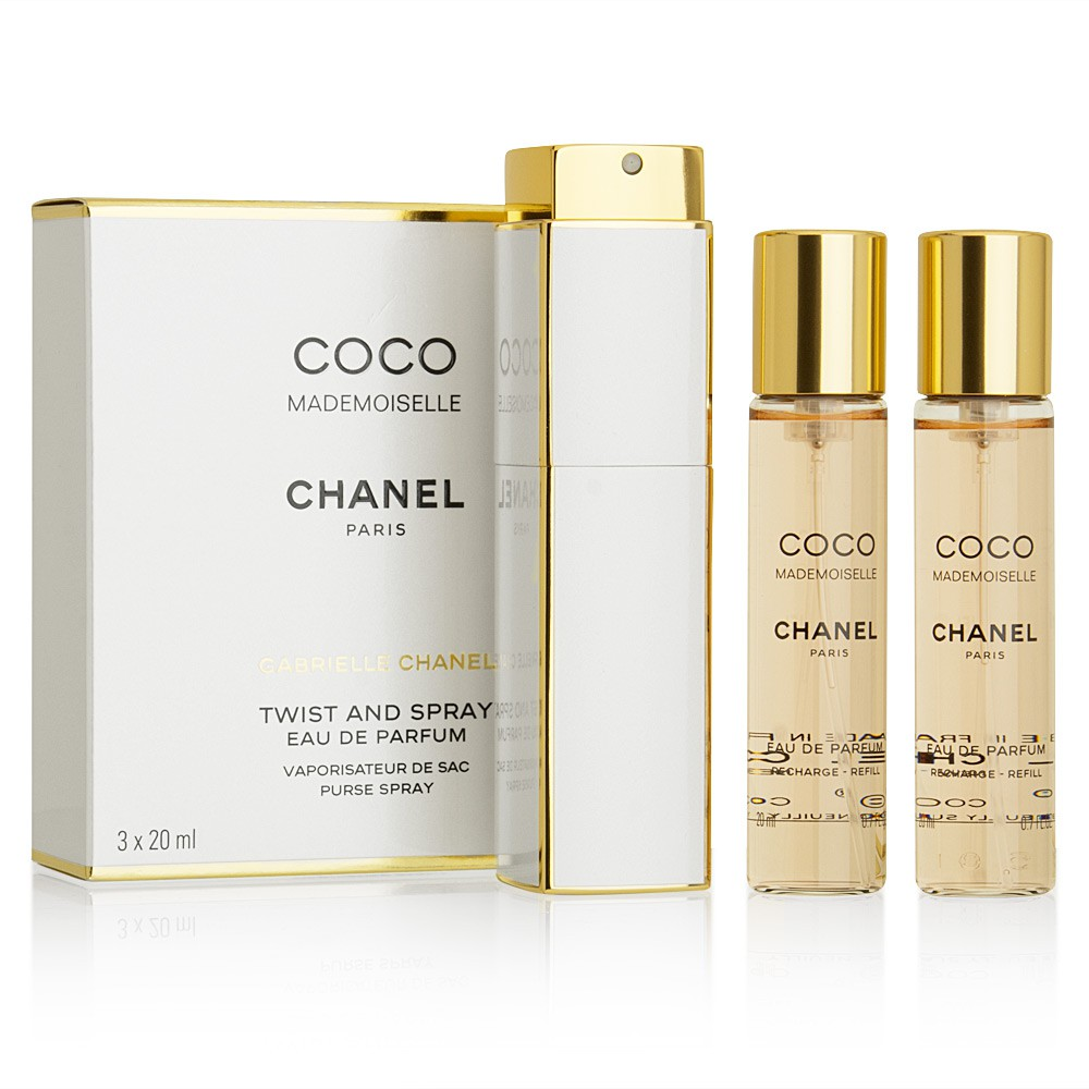 9032757770 Chanel COCO MADEMOISELLE EAU DE PARFUM TWIST AND SPRAY 3X20ml | Shopee  Malaysia
