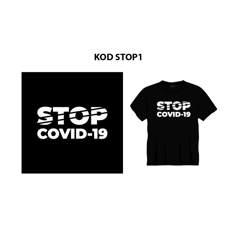 T-SHIRT STOP COVID 19