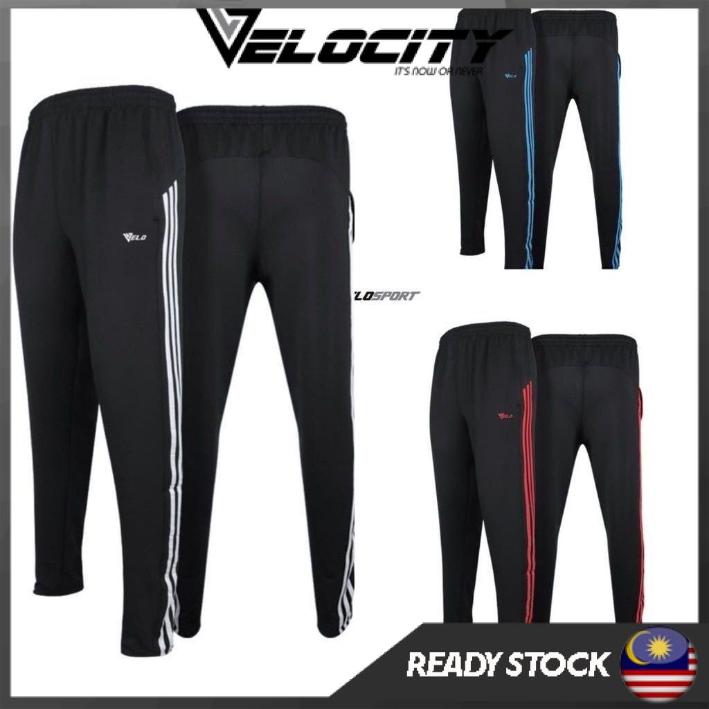 Seluar sukan Velosport Tracksuit Seluar Panjang Velosport 100% Cotton Pocket Zip Jogger Pant Jogging Pant Sweat Pant
