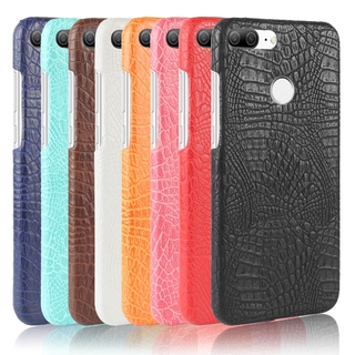 classic fit b6c0c 14044 Huawei Honor 9 Lite Case Cute Hard PC Leather Crocodile Snake Print Back  Cover