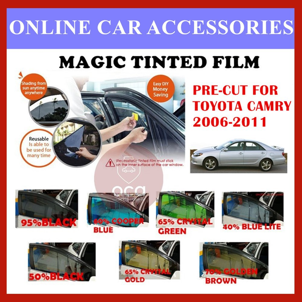 Toyota Camry 2006-2011  - Pre-Cut Shape Magic Tinted Solar Tinted (4 Windows & 2 Triangle /4 Windows+Rear)