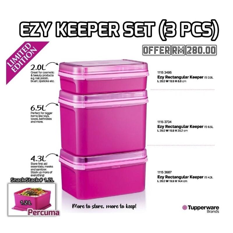 Ezy Keeper Set (3pcs) Pink Tupperware