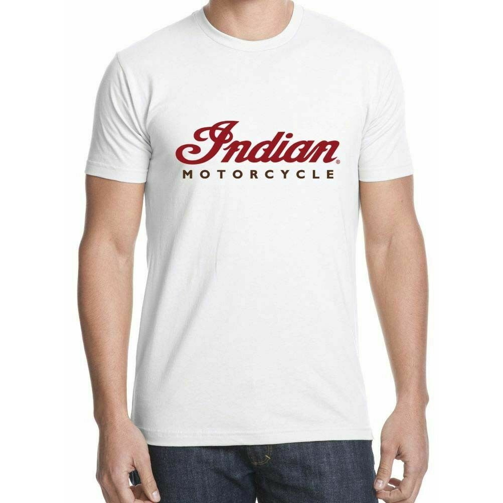 GENUINE INDIAN MOTORCYCLE BRAND COTTON T-SHIRT TEE COLOR HEADDRESS LOGO NEW