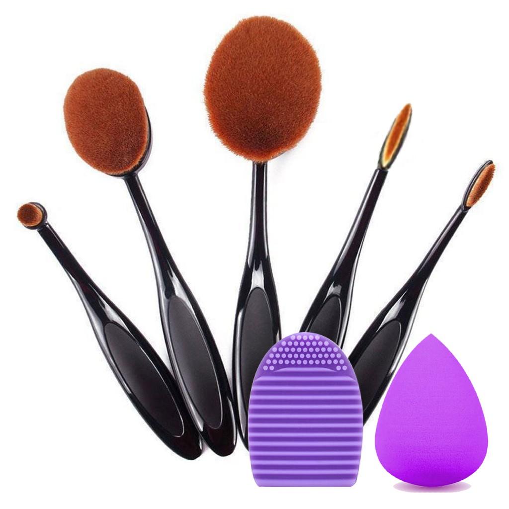 5 Pcs Oval Multi Function Brush and Brush Box