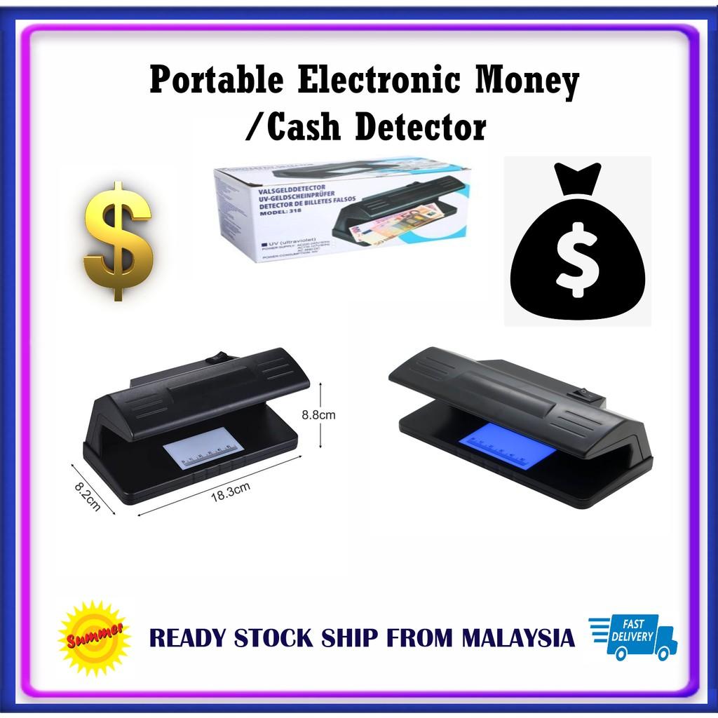 Money Detector  Counterfeit Money Detector UV Ultraviolet Light (Model 318) 4 AA Battery operated