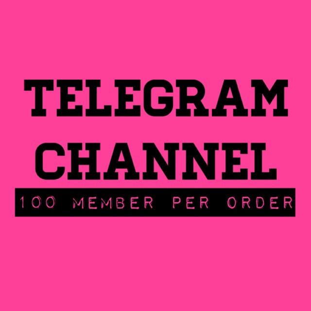 Telegram Channel 100member Cheap