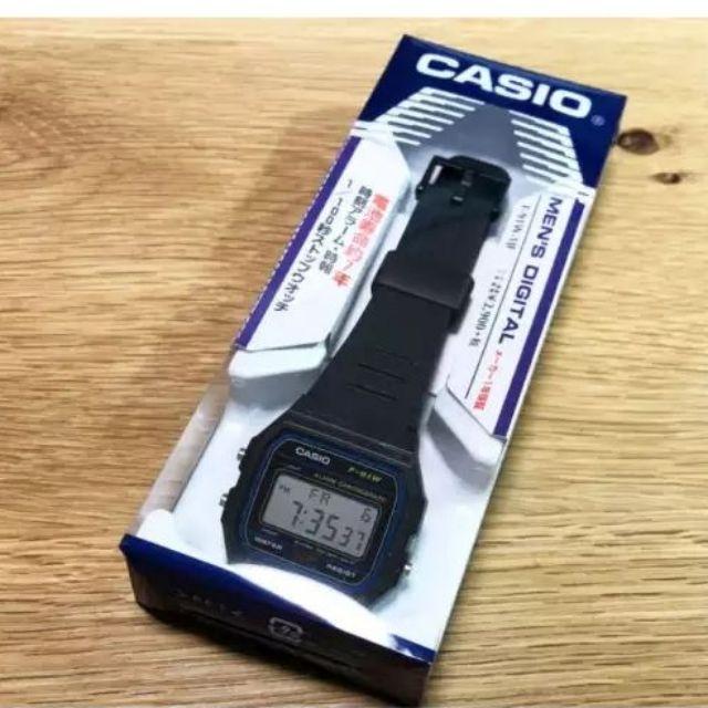 Original Casio F-91W-1SDG Mens Vintage Series Digital Resin Watch