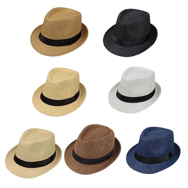 1ec494792 Unisex Summer Fedora Panama Straw Hats with Band