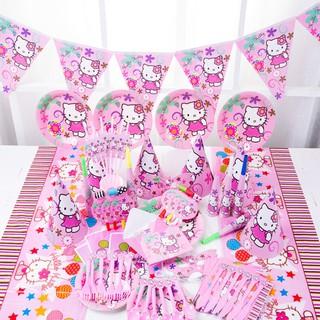 029075877 Hello Kitty Theme Package Kids Birthday Decoration Set Theme Party Supplies    Shopee Malaysia