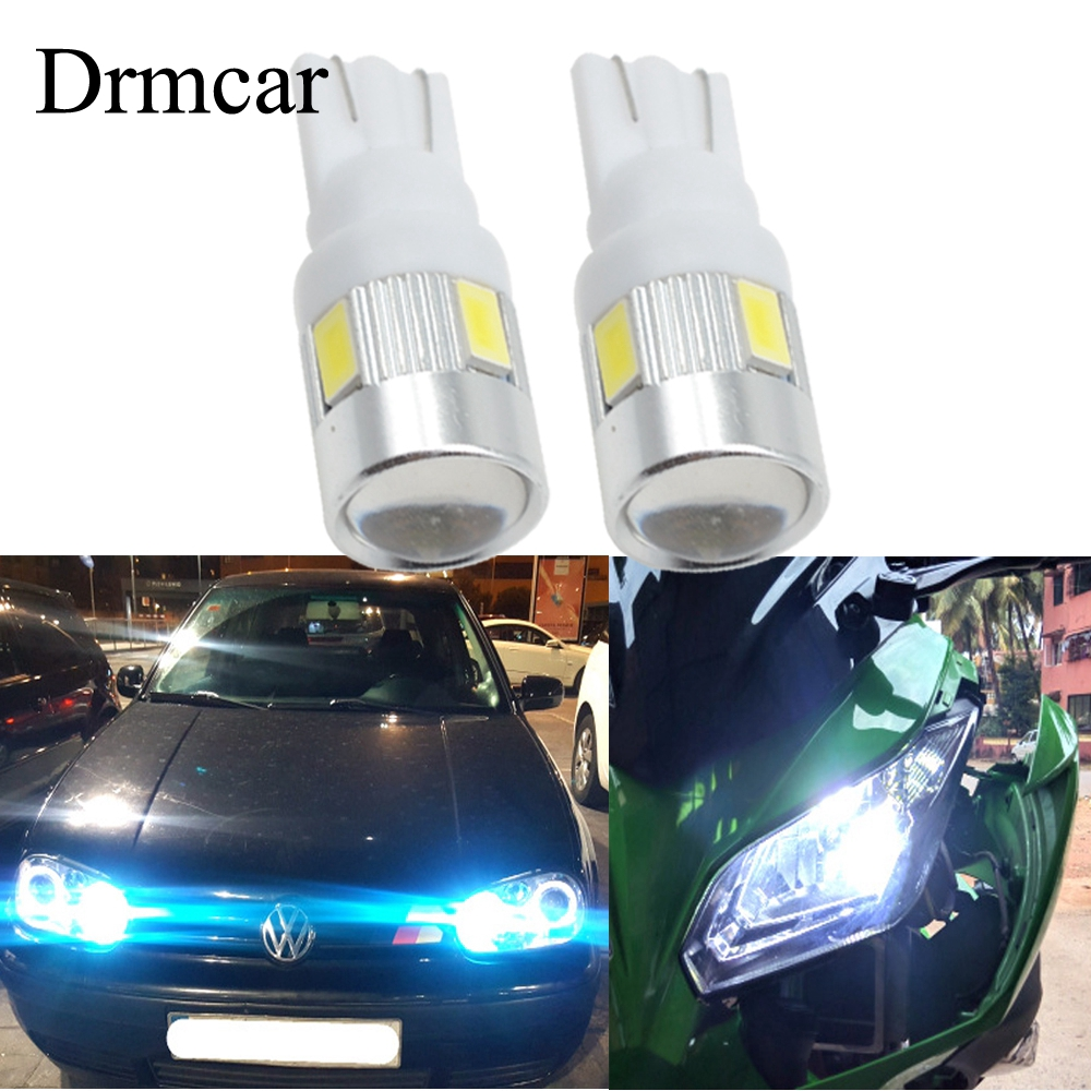 2x T10 6-SMD 5630 LED XENON WHITE 501 W5W CANBUS SIDE REVERSE LIGHTS BULBS 6000K