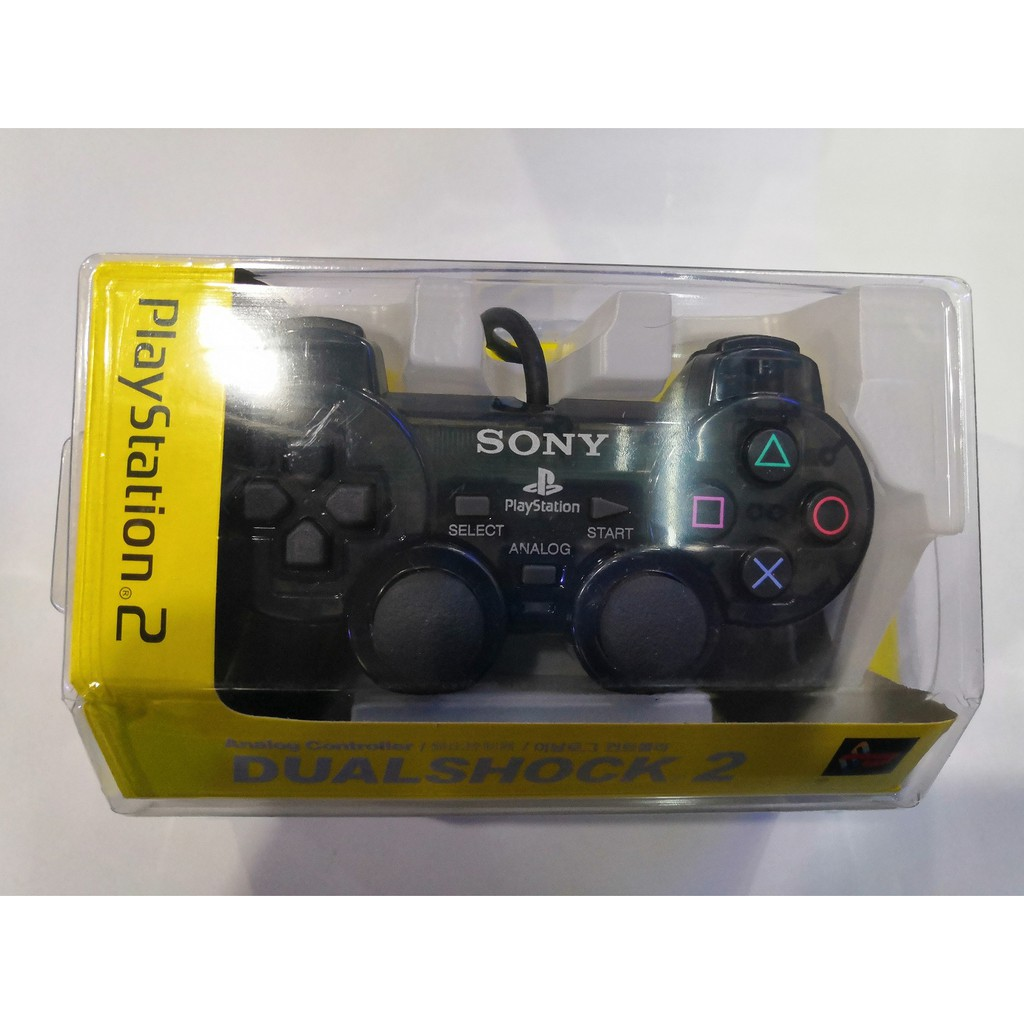 SONY PLAYSTATION 2 DUALSHOCK2 HIGH-END WIRED CONTROLLER - TRANSPARENT