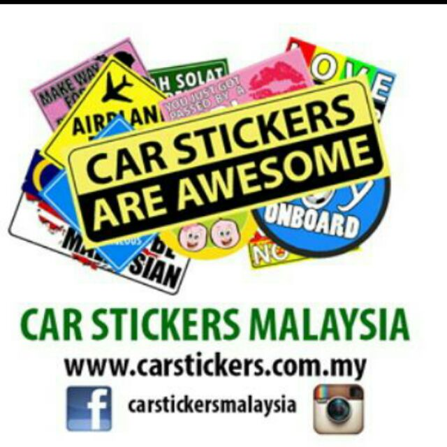 Car sticker barcelona set shopee malaysia