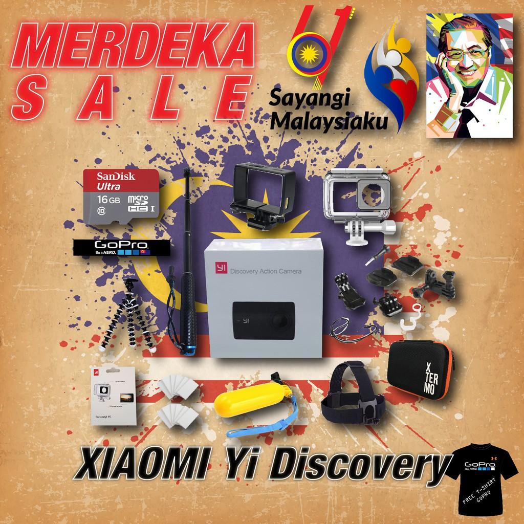 Xiaomi Yi Discovery Basic Set Shopee Malaysia Waterproof 4k