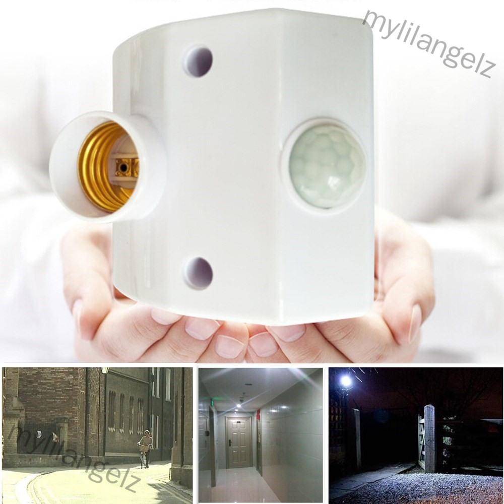 Mylilangelz E27 220V Infrared Motion Sensor Automatic Light Lamp Holder Switch Intelligent Light Base