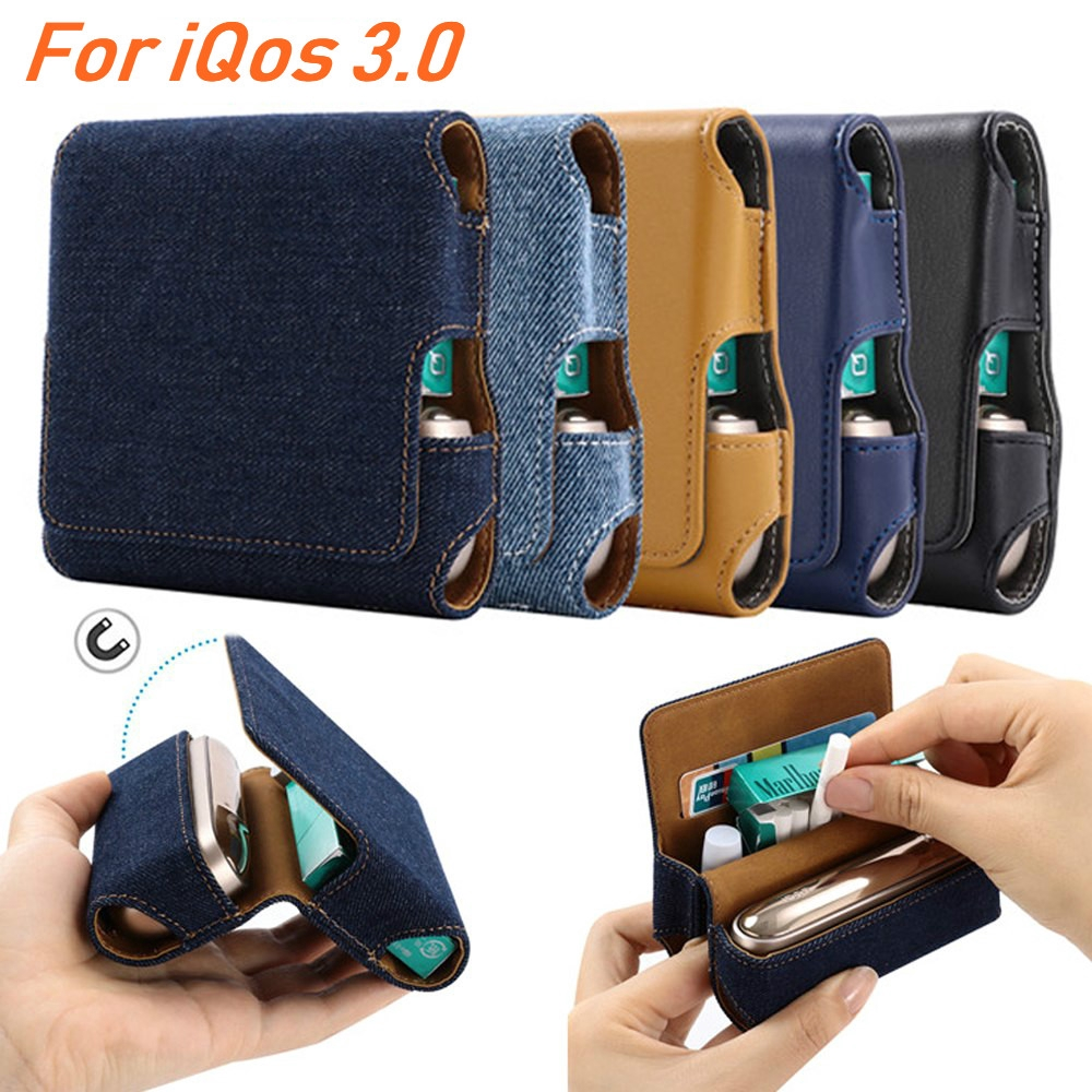 Leather Case for IQOS 3 3 0 Wallet Pouch Bag Holder Protective Cover  Accessorie