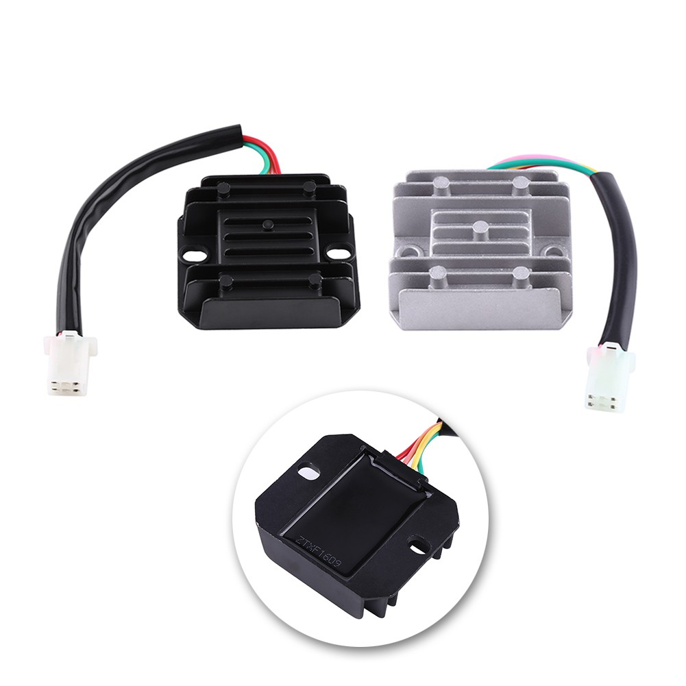 Universal 12v 4 Wires Regulator Rectifier For Motorcycle Motorbike Wire Wiring Diagram Scooter Quad Shopee Malaysia