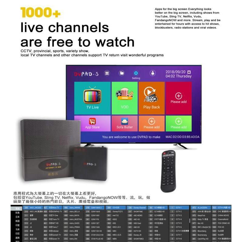DVPAD S - Smart Android Tv Box / 2GB RAM + 16GB