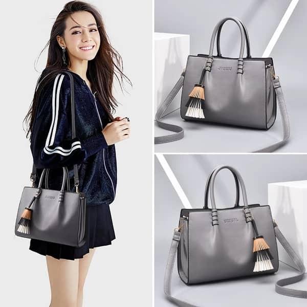 Handbag Women Good Quality Office Bag Grey