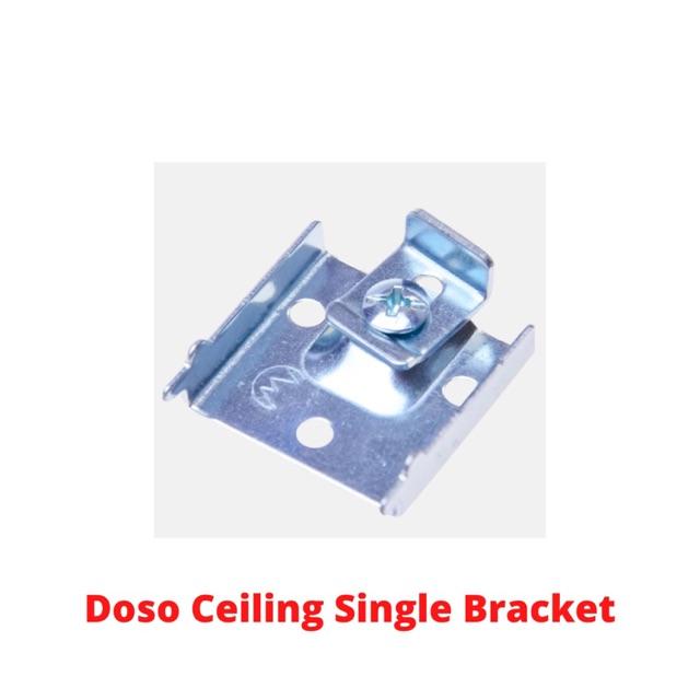 (WHOLESALE) Doso Super Curtain Bracket (Ceiling) Aluminium Rail Langsir Bracket (Siling)
