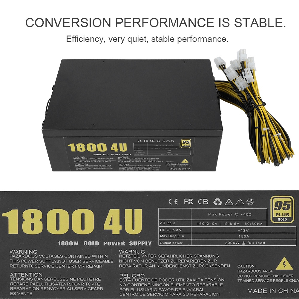 Power Supply For S9 1800W 4U Mining Machine Miner Power