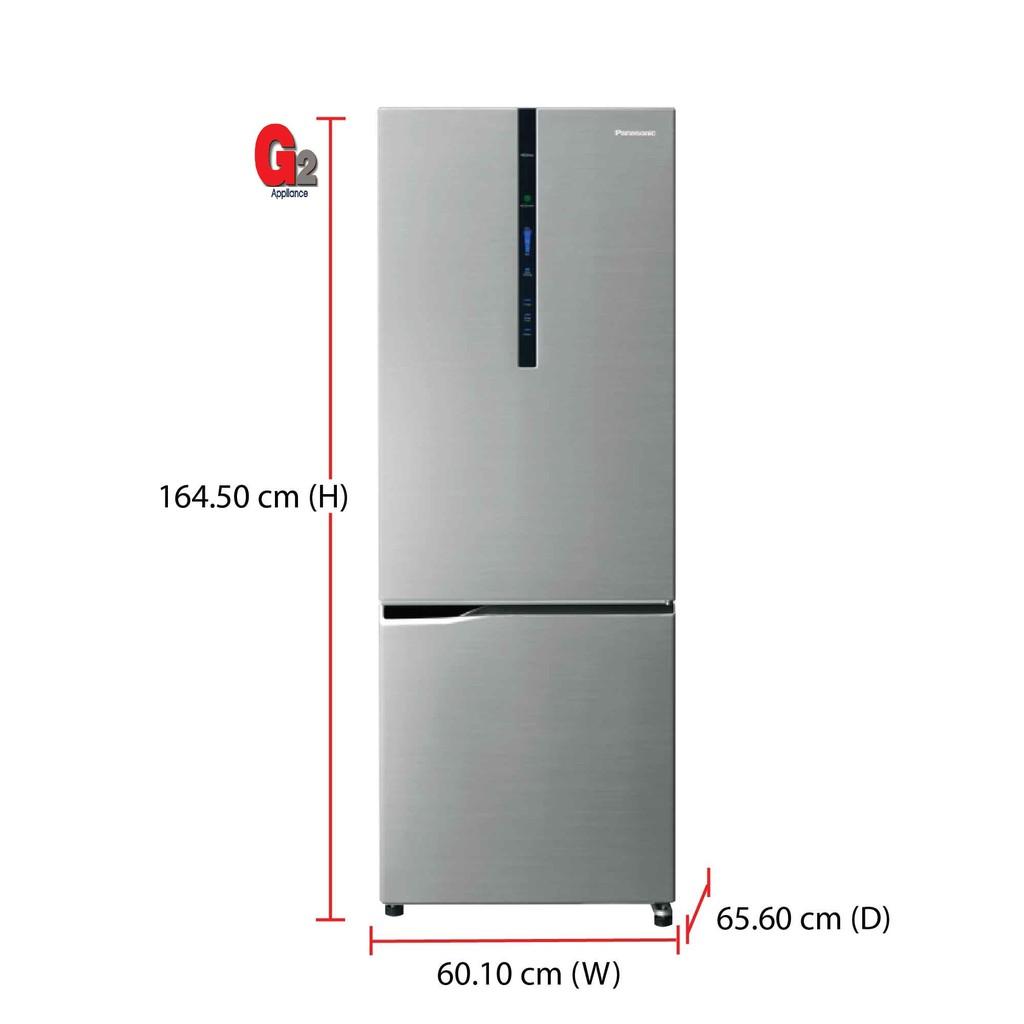Panasonic 322L Bottom Freezer Econavi Inverter Refrigerator NR-BV329XS