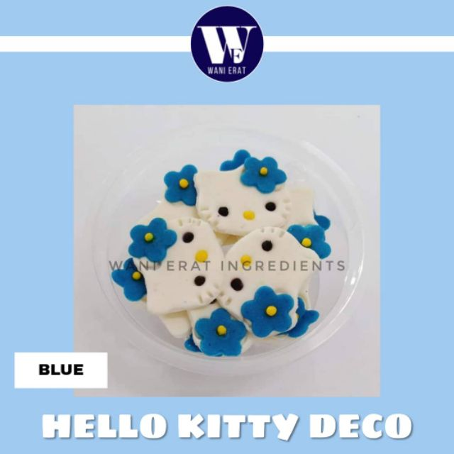 GUMPASTE HELLO KITTY BLUE [12 PCS]
