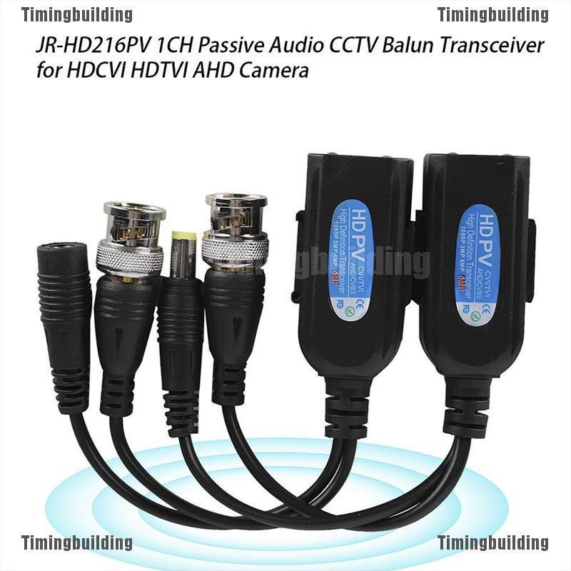 2 Pair CCTV Coax BNC Video /& Power Pigtail Balun Transceiver Adapter to CAT5e 6