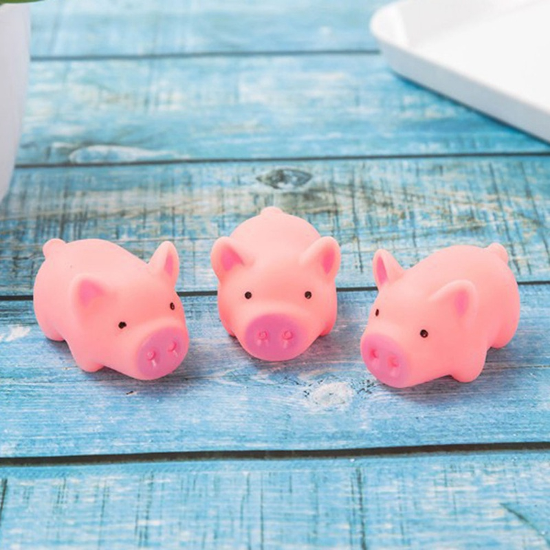 Cute Screaming Rubber Pig Toy Pink Piglet Toys Squeak Squeaker Chew Infant Gift