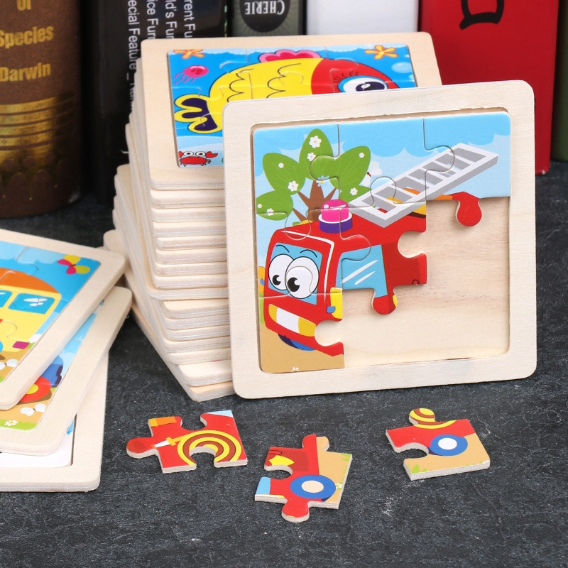 Wooden Cartoon Jigsaw Puzzle Early Learning Baby Children/'s Educational Toys 1 P
