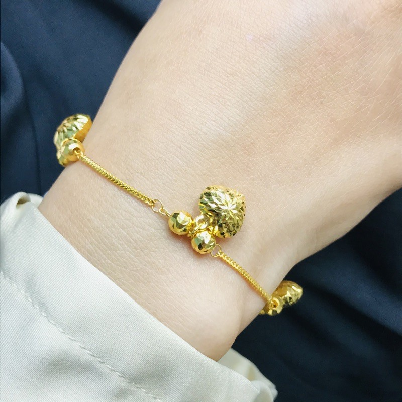 Rantai Tangan Eksklusif Fashion/Fashionable Life Chain Bracelet (Emas 916)