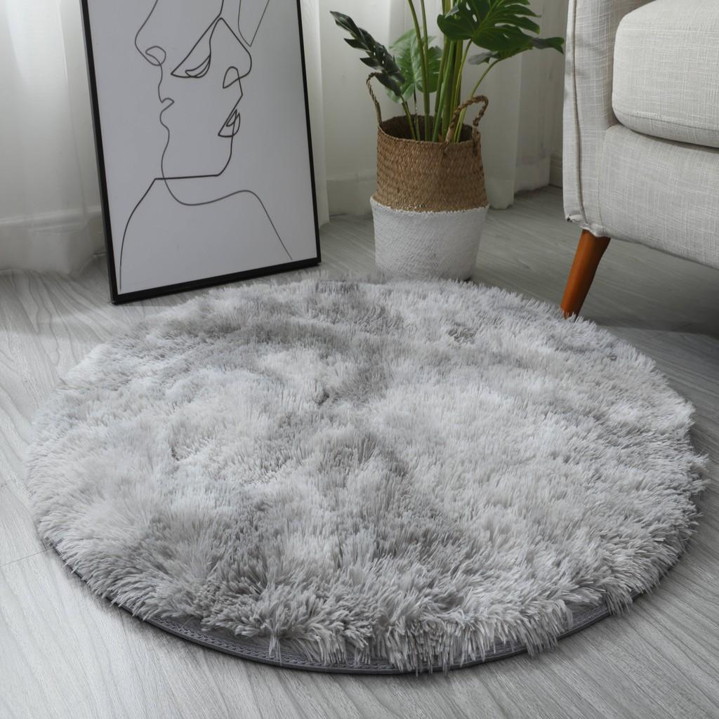 Grant Light Grey Round Rug Carpets