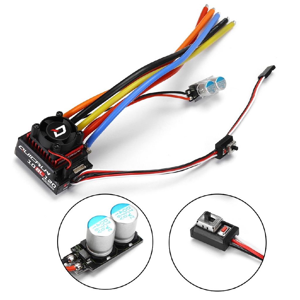 Hobbywing QuicRun Brushless Sensored Speed Controller 120A