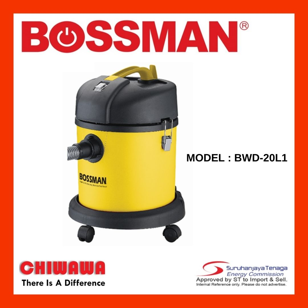 Bossman Wet & Dry Vacuum Cleaner BWD-20L /  BWD20L / BWD 20L 1200W   Vacum Cleaner   Vakum Cleaner