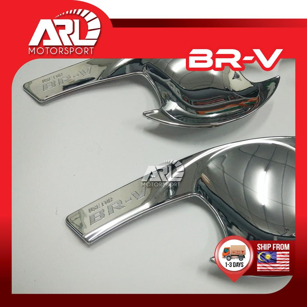 Honda BR-V / BRV  (2016-2020) Outer Handle Protector Chrome Cover With Logo BR-V Car Auto Acccessories ARL Motorsport