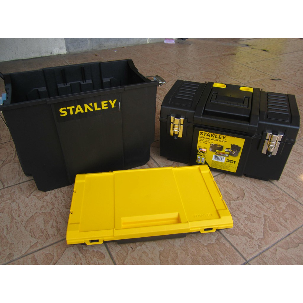 Stanley 3 In 1 Detachable Tool Box Mobile Work Center Portable Storage 11 in.