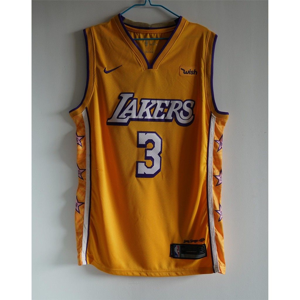 New season Los Angeles Lakers#3 Anthony Davis Basketball Jersey Black Size:S-XXL