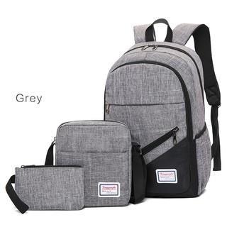 7e65ce25de Korean 3 In 1 Canvas Men Women College Travel Study Unisex Backpack (9126)  Bag