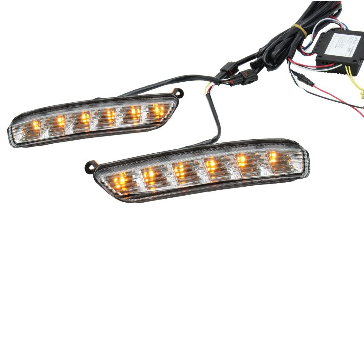 1 Pair Car Daytime Running Light Drl Led Daylight Fog Lamp For Toyota Vios 2016 2017 With Yellow Light Shopee Malaysia