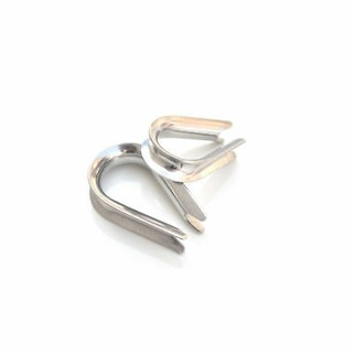4 mm Pack Size : 12 T316 Marine Grade Stainless Steel Wire Rope Eyelet Thimble in A4