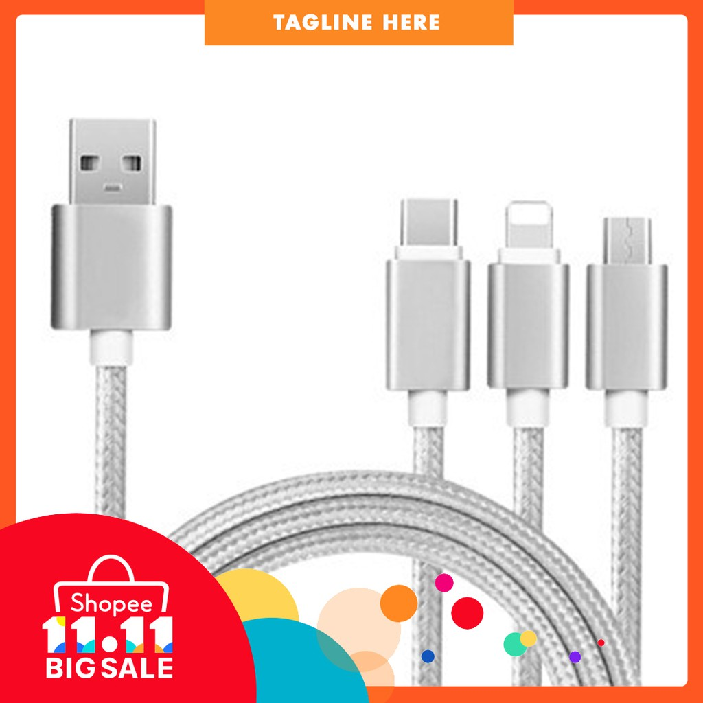 Remax Lesu Rc 050th 3 In 1 Lightning Type C Micro Usb Cable Wk Design Parker Data Wdc012 3in1 Shopee Malaysia