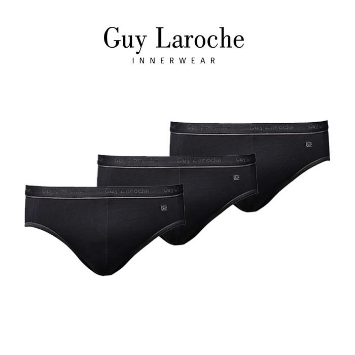 Guy Laroche กางเกงในชาย Pack  3 ชิ้น  สีดำ ( Cotton + Spandex ) JUS401